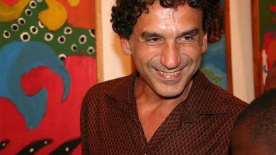 Angelo Abu em uma ilustração de contos folclóricos no Centro Cultural Brasil Moçambique