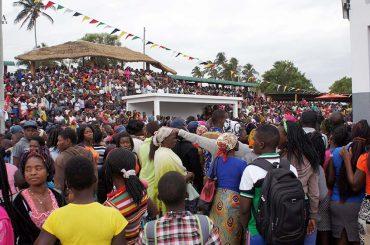 Espaço do Festival de Timbila Msaho Desajustado à realidade