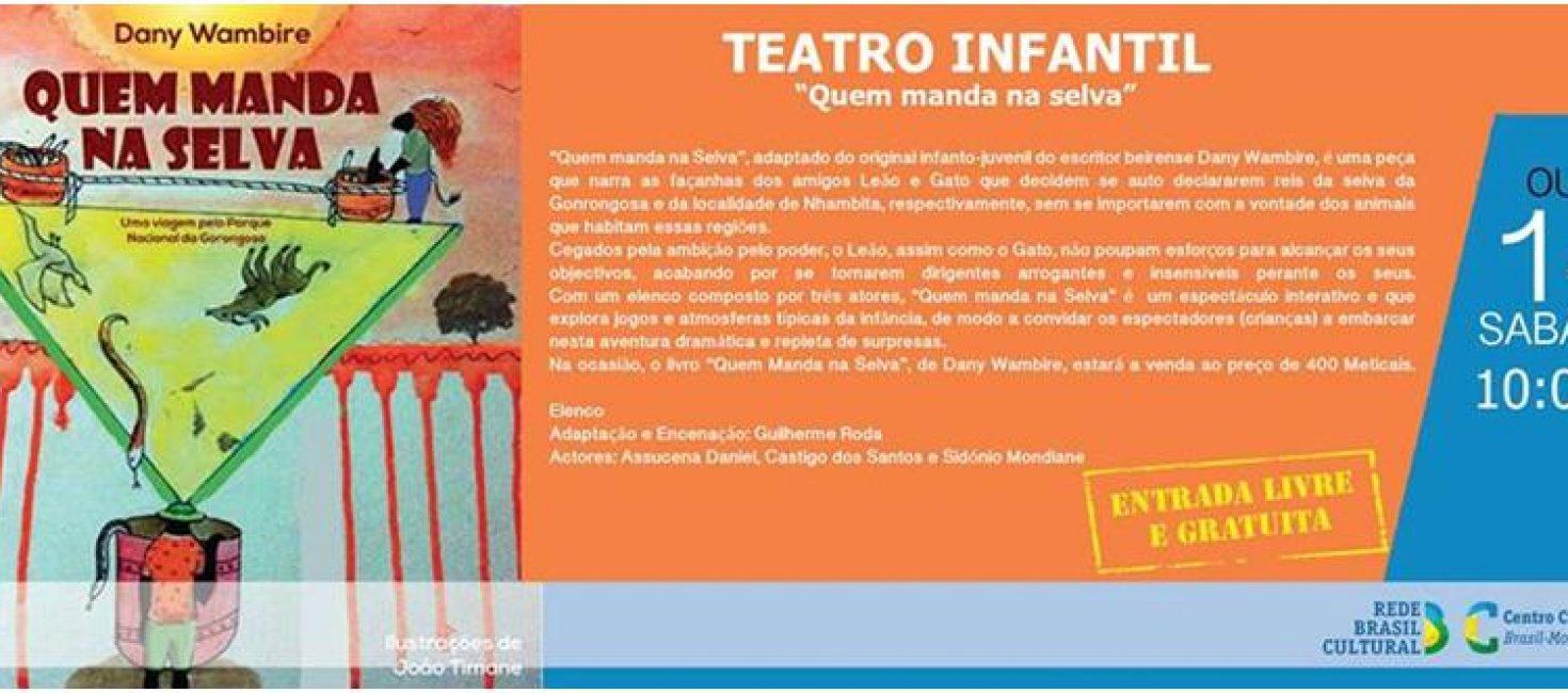 """Veja no Centro Cultural Brazil Moçambique a peça """"Quem manda na Selva"""""""