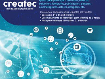 Candidate-se ao Createc projecto que junta profissionais das diferentes áreas criativas e developers num bootcamp