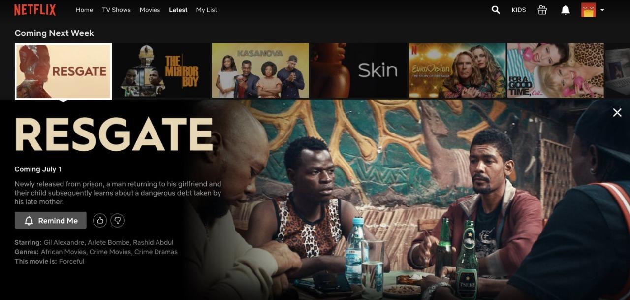 Resgate na Netflix